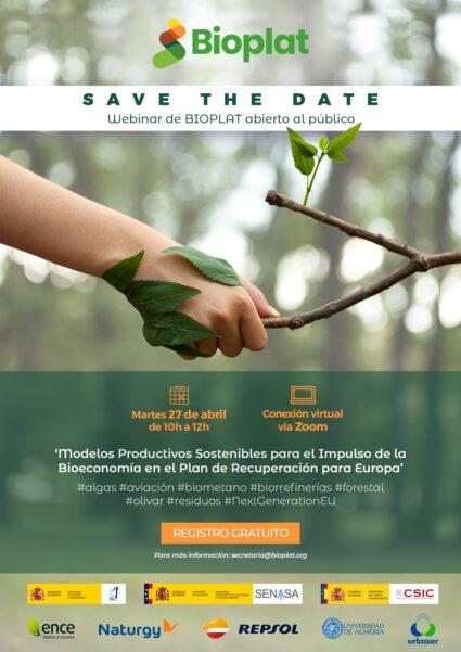 Save the Date - Bioeconomía para la Recuperación (27-04-2021) logos